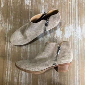 Lucky Brand Basel Perforated Suede Ankle Booties